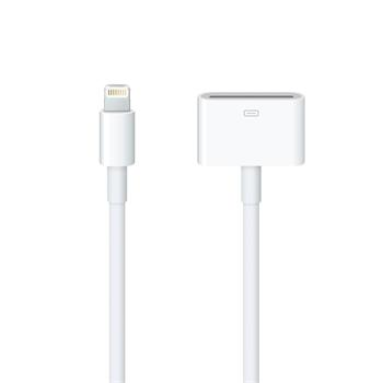 Apple MD824ZM Original Lightning - 30pin Dobíjecí Adapter 0,2m (EU Blister)