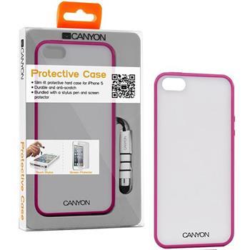 Canyon CNA-I5C01 obal pre iPhone5/5S, z TPU materiálu, vrátane stylusa a ochrannej fóliie na displej, ružové (CNA-I5C01P)
