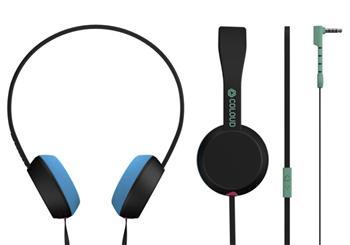 Coloud Stereo Headset Knock Blocks Black/ Cyan