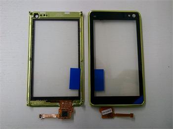 Dotyková plocha + sklíčko pre Nokia N8 + rámik lime green