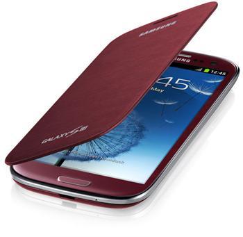 EFC-1G6FRE Samsung Flip Pouzdro pro Galaxy S III (i9300) Red (EU Blister)