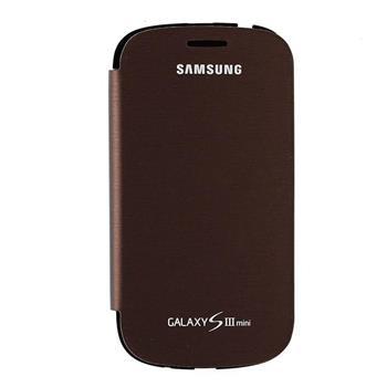 EFC-1M7FAE Samsung Flip Pouzdro pro Galaxy S3mini i8190, S3 mini i8200 VE Amber Brown (EU Blister)