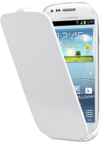 ETUISMI8190W Samsung i8190 S3mini, S3 mini i8200 VE Original Flip Pouzdro Biela (EU Blister)