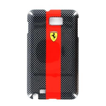FECBGNRE Ferrari Zadní Kryt Samsung N7000 Note Carbon Black Red