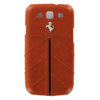 FECFGS3KA Ferrari California Kožený Zadní Kryt Kamel pro Samsung Galaxy S3 i9300