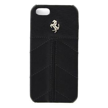 FECFIP5BL Ferrari Zadní Kožený Kryt California pro iPhone 5, 5S Black