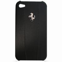 FEMO4MBL Ferrari Modena Kožené Hard Pouzdro Black pro iPhone 4/4S