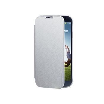 FOLIOSMGS4W Made by Samsung Kožené Folio Pouzdro White pro S4 i9505 (EU Blister)
