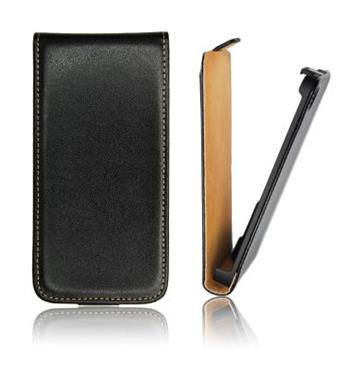 ForCell Slim Flip Pouzdro Čierne pro Samsung i9505 S4