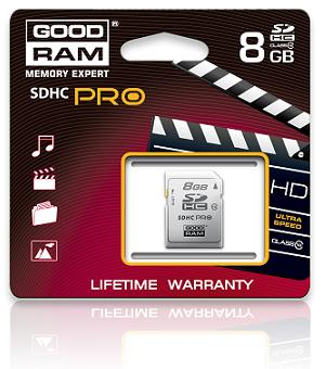 GOODRAM SDHC 8 GB Class 10 PRO - RETAIL 9 (SDC8GHC10PGRR9)
