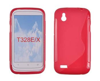 Gumené puzdro HTC Desire X, Červené