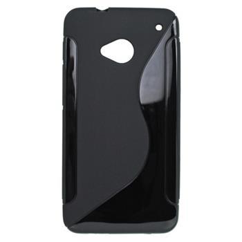 Gumené puzdro HTC One M7 čierne