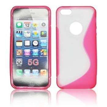 Gumené puzdro iPhone 5/5S/SE Transparente / ruzove