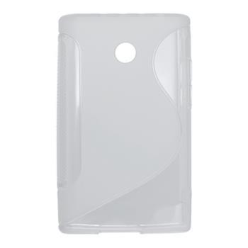Gumené puzdro LG E400 Optimus L3 transparentne