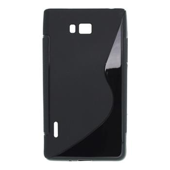 Gumené puzdro LG P700 Optimus L7 čierne