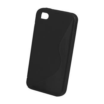 Gumene puzdro S-Case cierne pre iPhone 4 / 4S čierna