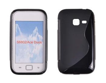 Gumené puzdro Samsung Galaxy Ace Duos S6802 Čierne