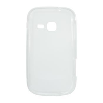 Gumené puzdro Samsung Galaxy Mini 2 S6500 biele transparentné