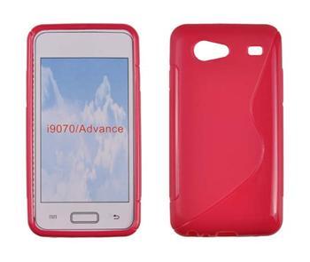 Gumené puzdro Samsung Galaxy S Advance i9070 Červené
