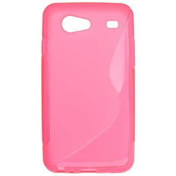 Gumené puzdro Samsung Galaxy S Advance i9070 svetlo ružové