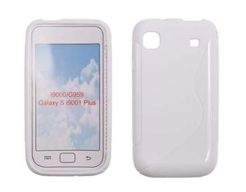Gumené puzdro Samsung Galaxy S i9000 / i9001 Biele