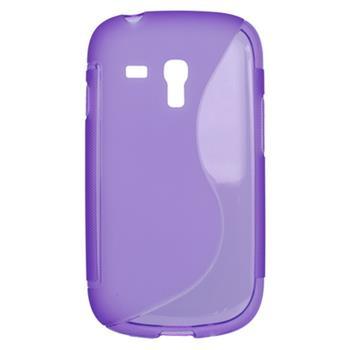 Gumené puzdro Samsung Galaxy S3 mini i8190/i8195/i8200VE fialové