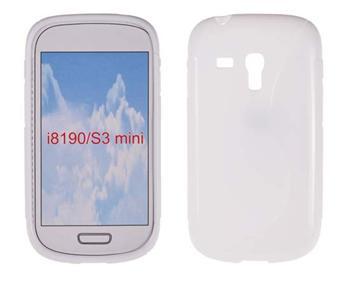 Gumené puzdro Samsung Galaxy S3 Mini i8190, S3 mini i8200 VE Biele