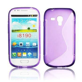 Gumené puzdro Samsung Galaxy S3 Mini i8190, S3 mini i8200 VE Fialove