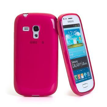 Gumené puzdro Samsung Galaxy S3 Mini i8190, S3 mini i8200 VE tmavo ružové