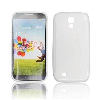 Gumené puzdro Samsung i9500 Galaxy S4 biele