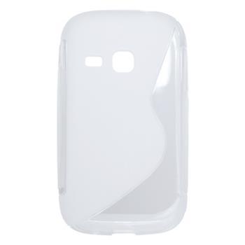Gumené puzdro Samsung S6310 Galaxy Young Biele