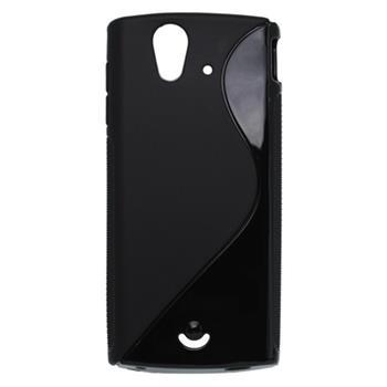 Gumené puzdro Sony Ericsson Xperia Ray ST18i čierne
