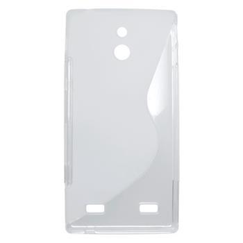 Gumené puzdro Sony Xperia P LT22i biele transparentne