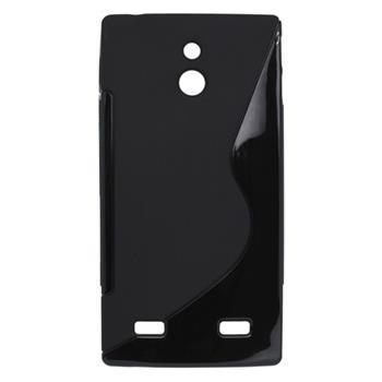 Gumené puzdro Sony Xperia P LT22i čierna