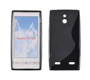 Gumené puzdro Sony Xperia P LT22i Čierne