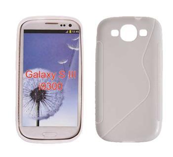 Gumové puzdro Samsung Galaxy S III (i9300/S3 i9301 Neo) biele vzor S