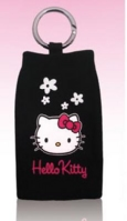 Hello Kitty Ponožka Black Flowers