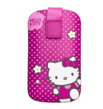 HKPOPUP3F Hello Kitty Iconic Kožené Pouzdro Fuchsia