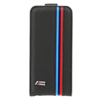 "iPhone 5, 5S, SE BMFLP5MP BMW ""M"" Collection Flip Kožené Poudzro Šedé (EU Blister)"