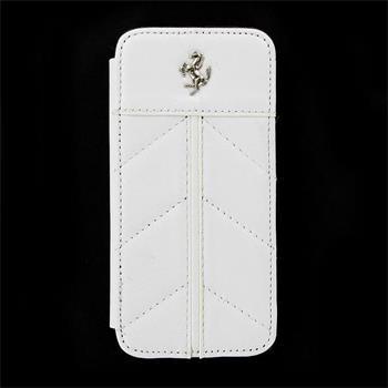 iPhone 5, 5S, SE FECFFLBKP5FW Ferrari Kožené Book Pouzdro California White