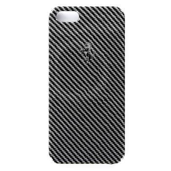 iPhone 5, 5S,SE FEFCHCP5BL Ferrari Zadní Kryt Full Carbon