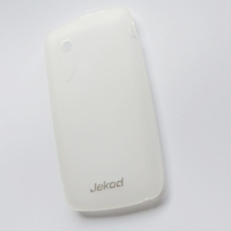 JEKOD TPU Ochranné Pouzdro White pro ZTE Blade + ochranná fólia na displej