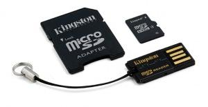 Kingston micro SDHC 16 GB class 4 + Adaptér (MBLY4G2/16GB)