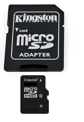 Kingston micro SDHC 4 GB Class 10 + adaptér (SDC10/4GB)