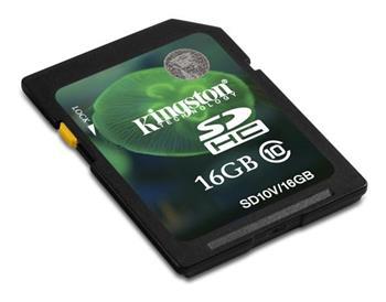 Kingston SDHC 16 GB Class 10 (SD10V/16GB)