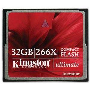 Kingston Ultimate Compact Flash Card 32 GB 266x (CF/32GB-U2)