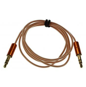 KitSound 3,5mm - 3,5mm AUX Kabel Orange Slim (EU Blister)
