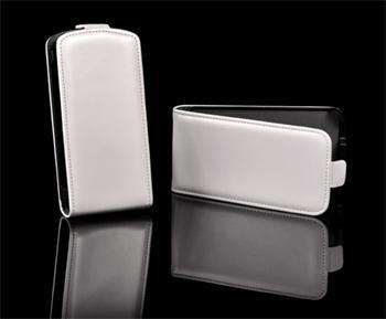 Knižkové puzdro Slim Samsung Galaxy Advance, i9070, Biele