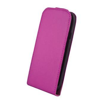 Kožené knižkové púzdro Elegance HTC One fialove