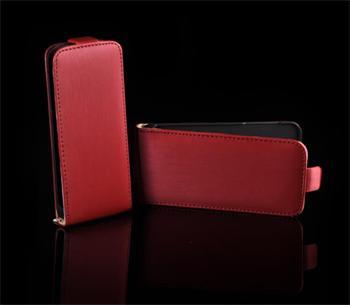 Kožené knižkové púzdro NEO slim iPhone 4/4S Červená